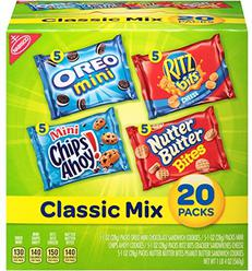Nabisco Classic Mix Variety Pack with Cookies & Crackers, 20 Count Box, 20 Ounce (Pack of 20)