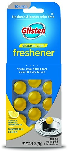Glisten Disposer Care Freshener, Lemon Scent, 10 Use