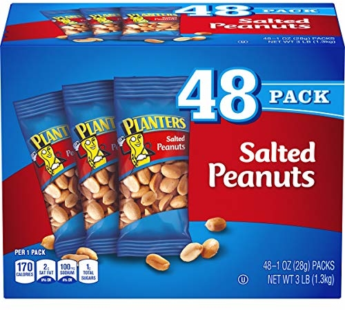 Planters Salted Peanuts (1 oz Bags, Pack of 48)