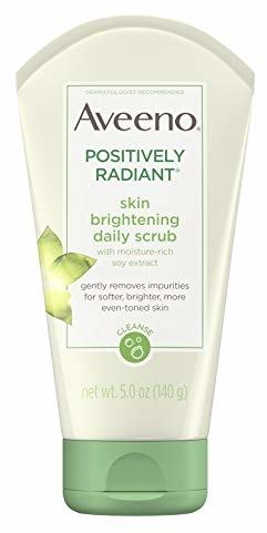 Aveeno Positively Radiant Skin Brightening Exfoliating Daily Facial Scrub and Face Cleanser, 5 oz