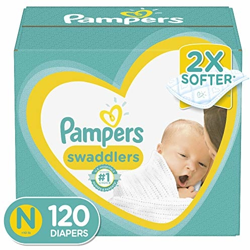 Diapers Newborn/ Size 0 (< 10 Lb), 120 Count - Pampers Swaddlers Disposable Baby Diapers, Giant Pack