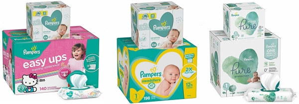 Save up to $10 on select Pampers diapers and wipes