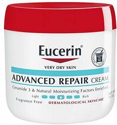 Eucerin Advanced Repair Cream - Fragrance Free, Full Body Lotion for Very Dry Skin - 16 oz. Jar