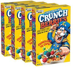 Cap'N Crunch Cereal, Crunch Berries, 13oz Boxes, 4 Count