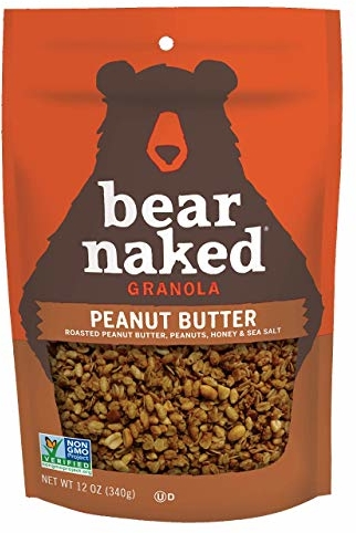 Bear Naked Peanut Butter Granola - Non-GMO, Kosher Dairy, Vegetarian Friendly - 12 Ounce