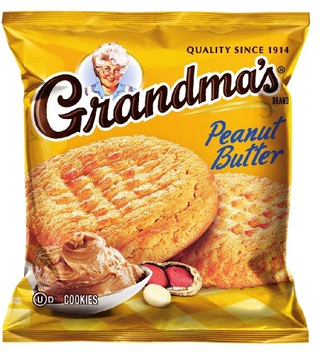 Grandma's Peanut Butter Cookies, 2.5 Ounce (Pack of 60)