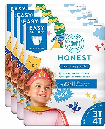 The Honest Company Toddler Training Pants, Super Heroes, 3T/4T, 92 Count (Packaging May Vary)