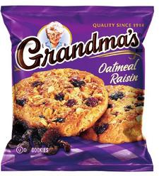 Grandma's Oatmeal Raisin Cookies, 2.5 Ounce (Pack of 60)