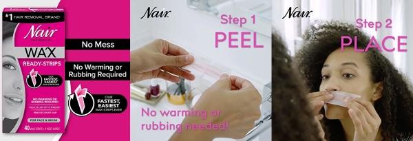 Hot Nair Hair Remover Wax Ready Strips For Face Bikini 40 Ct Jungle Deals Blog