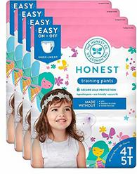The Honest Company Toddler Training Pants, Fairies, 4T/5T, 76 Count (Packaging May Vary)