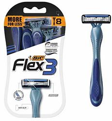 BIC Flex 3 Men's Triple Blade Disposable Razor, 8-Count
