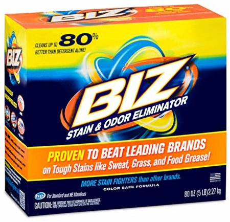 Biz Laundry Detergent Powder Booster, Stain & Odor Removal - 80 Ounces