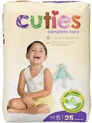 Cuties Complete Care Baby Diapers - Size 5 (25 Count)