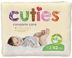 Cuties Complete Care Baby Diapers - Size 2 (40 Count)