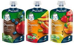 Gerber Organic 2nd Foods Baby Food, Fruit & Veggie Variety Pack, 3.5 Ounces Each, 18 Count