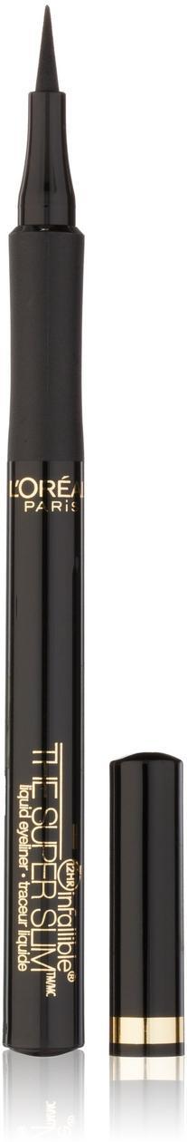 L'Oral Paris Makeup Infallible Super Slim Long-Lasting Liquid Eyeliner, Ultra-Fine Felt Tip, Quick Drying Formula, Glides on Smoothly, Black