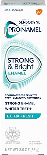 Sensodyne Pronamel Strong And Bright Enamel Toothpaste for Sensitive Teeth, Extra Fresh - 3 Ounces