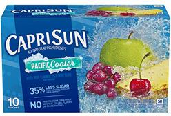Capri Sun Pacific Cooler Mixed Fruit Flavored Juice Drink Blend, 10 ct - Pouches, 60.0 fl oz Box