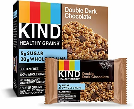KIND Healthy Grains Granola Bars, Double Dark Chocolate, Gluten Free, 1.2 oz, 40 Count