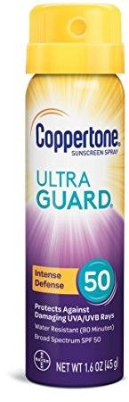 Coppertone ULTRA GUARD Sunscreen Continuous Spray SPF 50 (1.6 Ounce)