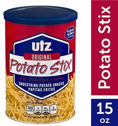 Utz Potato Stix, Original 15 Oz. Canister Shoestring Potato Sticks Made from Fresh Potatoes, Crispy, Crunchy Snacks