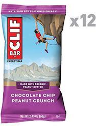 CLIF BAR - Energy Bars - Chocolate Chip Peanut Crunch - (2.4 Ounce Protein Bars, 12 Count)