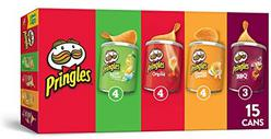 Pringles Potato Crisps Chips, Flavored Variety Pack, 15 Count, 20.6oz