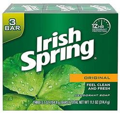 Irish Spring Deodorant Bar Soap, Original, 3 Bar