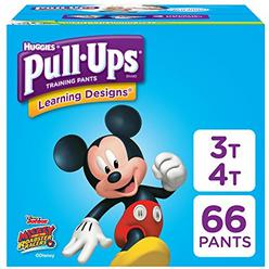 Pull-Ups Learning Designs Potty Training Pants for Boys, 3T-4T (32-40 lb.), 66 Ct. (Packaging May Vary)