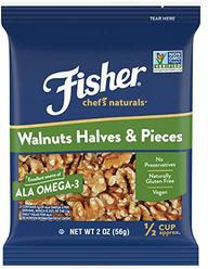FISHER Chef's Naturals Walnut Halves & Pieces, No Preservatives, Non-GMO, 2 oz