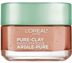 L'Oréal Paris Skincare Pure-Clay Face Mask with Red Algae for Clogged Pores to Exfoliate And Refine Pores, 1.7 oz.