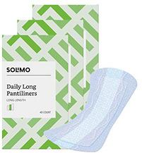Amazon Brand - Solimo Daily Long Pantiliner, Long Length, 120 Count (3 packs of 40)
