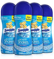 Snuggle Scent Shakes in-Wash Scent Booster Beads, Blue Sparkle, 9 oz, Pack of 4