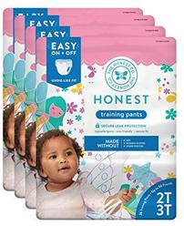 The Honest Company Toddler Training Pants, Fairies 2T/3T, 104 Count (Packaging May Vary)