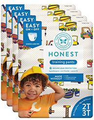 The Honest Company Toddler Training Pants, Construction Zone, 2T/3T, 104 Count (Packaging May Vary)