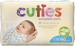 Cuties Complete Care Baby Diapers - Newborn (40 Count)