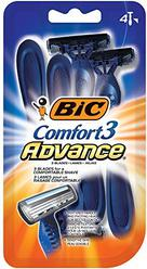 BIC Comfort 3 Advance Men's Disposable Razor, 4-Count