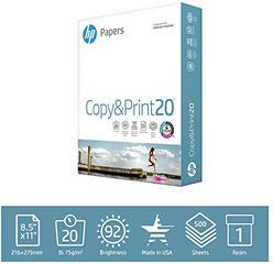 HP Printer Paper 8.5x11, 20 lb, 500 Sheets 92 Bright, Made in USA