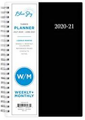 Blue Sky 2020-2021 Academic Year Weekly & Monthly Planner, Flexible Cover, Twin-Wire Binding, 5