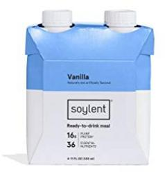 Soylent Vanilla Plant Protein Meal Replacement Shake, 11 Oz, Pack of 4