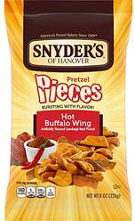 Snyder's of Hanover Pretzel Pieces, Hot Buffalo Wing, 8 Ounce (Pack of 6)