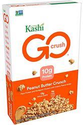 Kashi GO Peanut Butter Crunch Cereal - Vegan, Non-GMO, 13.2 Ounce