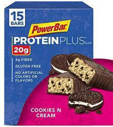 PowerBar Protein Plus Bar, Cookies & Cream, 2.15 Ounce (Pack of 15)