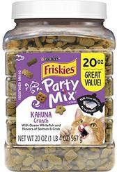 Friskies Party Mix Adult Cat Treats Canisters  Real Ocean Whitefish #1 Ingredient