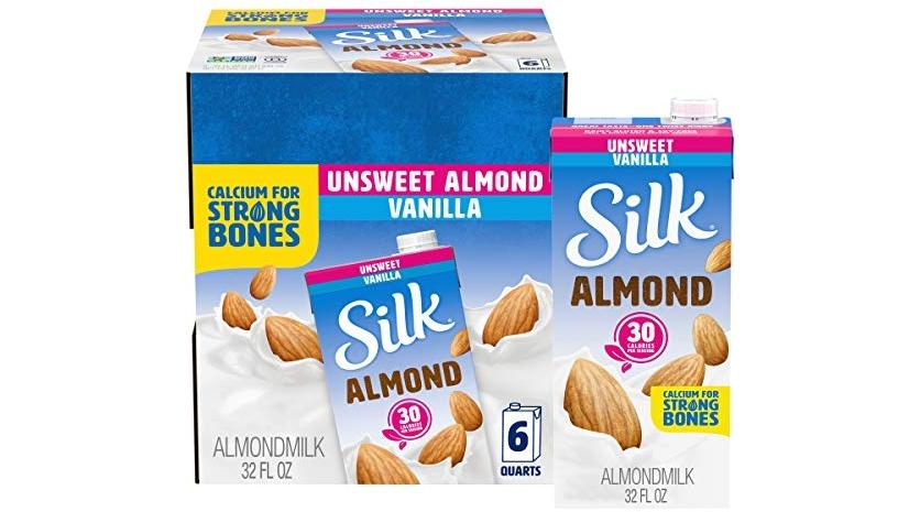Purchase Silk Almond Milk, Unsweetened Vanilla, 32 Fluid Ounce (Pack of 6), Vanilla Flavored Non-Dairy Almond Milk, Dairy-free Milk at Amazon.com