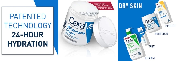 Purchase CeraVe Moisturizing Cream, 19 Ounce, Daily Face and Body Moisturizer for Dry Skin on Amazon.com