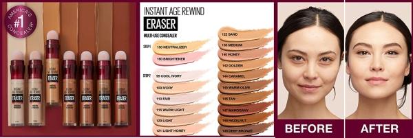 Purchase Maybelline Instant Age Rewind Eraser Dark Circles Treatment Concealer, Fair, 0.2 fl. oz. on Amazon.com