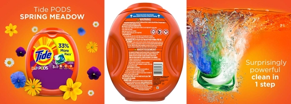 Purchase Tide PODS Laundry Detergent Liquid Pacs, Spring Meadow Scent, HE Compatible, 96 Count per pack, 77 Oz on Amazon.com