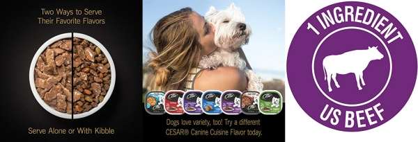 Purchase Cesar Gourmet Wet Dog Food Variety Packs - 12 Trays on Amazon.com