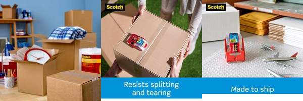 Purchase Scotch Heavy Duty Shipping Packaging Tape, 1 Roll with Dispenser, 1.88